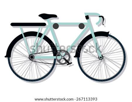 Bike design over white background  - stock vector