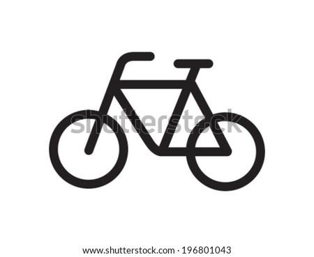 Bike Outline Icon Symbol - stock vector