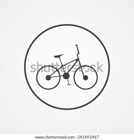bike outline thin symbol, dark on white background, logo editable, creative template  - stock vector