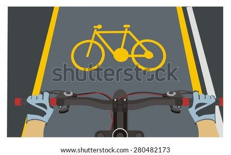 bikers point of view - stock vector
