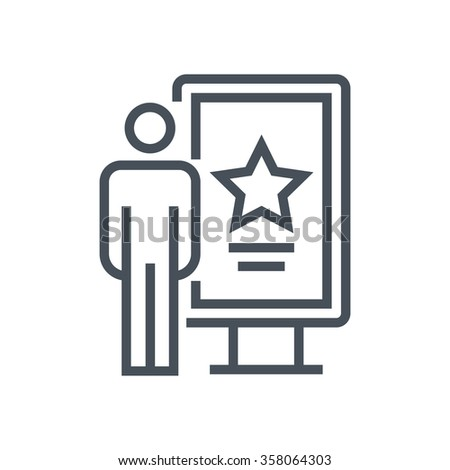 Billboard icon suitable for info graphics, websites and print media and  interfaces. Line vector icon. - stock vector