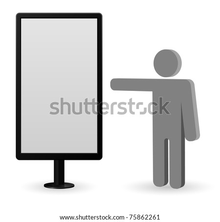 billboard with person icon - stock vector