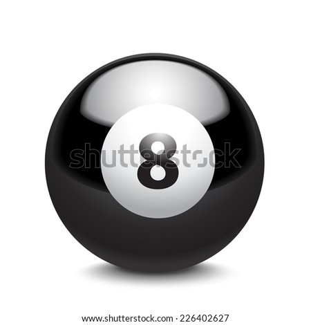 billiard ball - stock vector