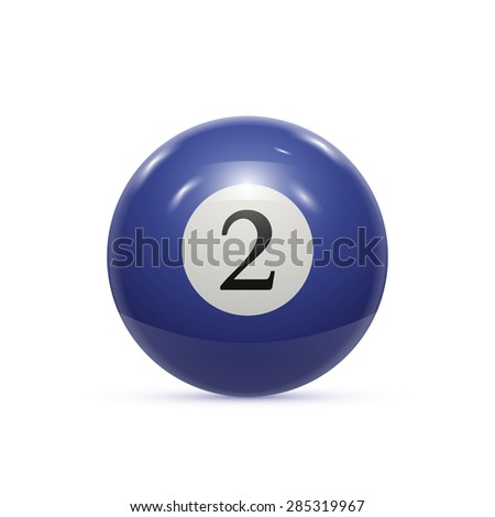 Billiard two ball isolated on a white background vector illustration - stock vector