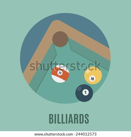 Billiards  - stock vector
