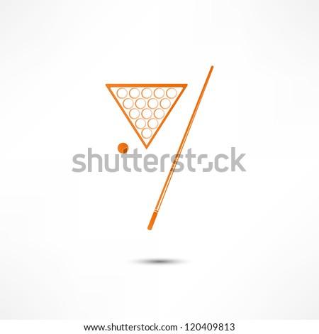 Billiards Icon - stock vector