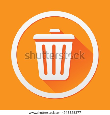 Bin icon great for any use. Vector EPS10. - stock vector