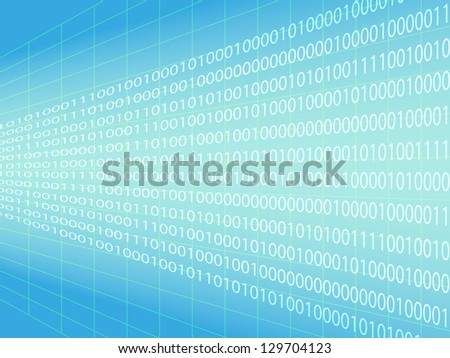 Binary code background - information concept - stock vector