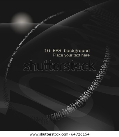 Binary code on space abstract background. 10 EPS vector illustration. - stock vector