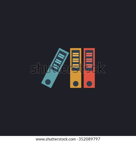 binders Color vector icon on dark background - stock vector