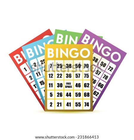 bingo cards illustration design over a white background - stock vector