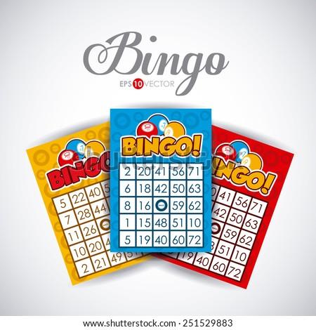 Bingo design over white background, vector illustration. - stock vector