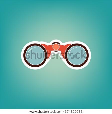 Binocular icon. Vector Illustration - stock vector