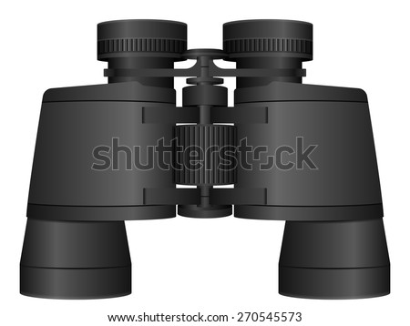 binoculars on a white background. Vector illustration. - stock vector