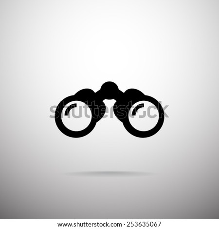 binoculars icon vector - photo #16