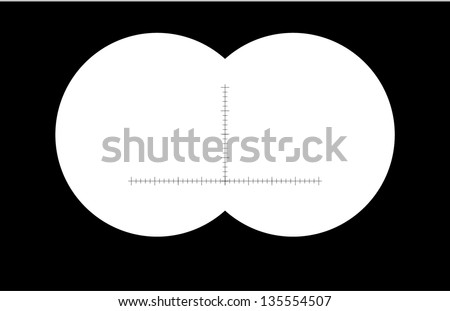 binoculars with sharp edges. Vector illustration - stock vector