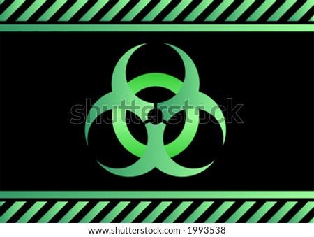 Bio hazard sign - stock vector