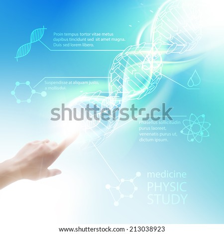 Biochemistry infographics design for science. Vector illustrtion. - stock vector