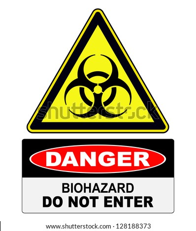Biohazard, danger sign warning - stock vector