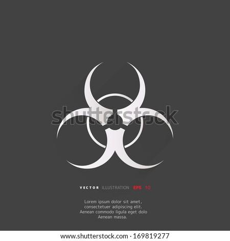 Biohazard icon,biological danger - stock vector