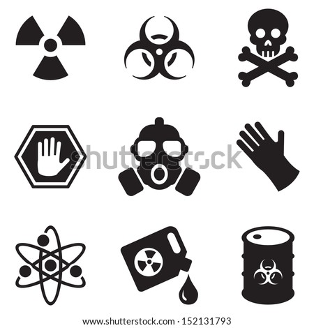 Biohazard Icons - stock vector