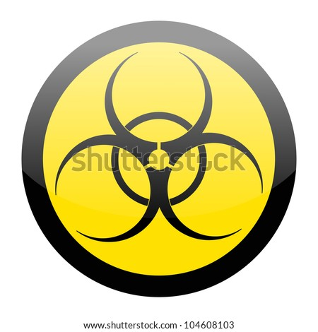 Biohazard sign isolated on a white background - stock vector