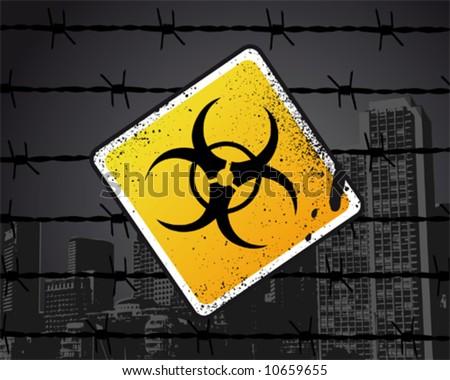 Biohazard Sign Vector Illustration - stock vector
