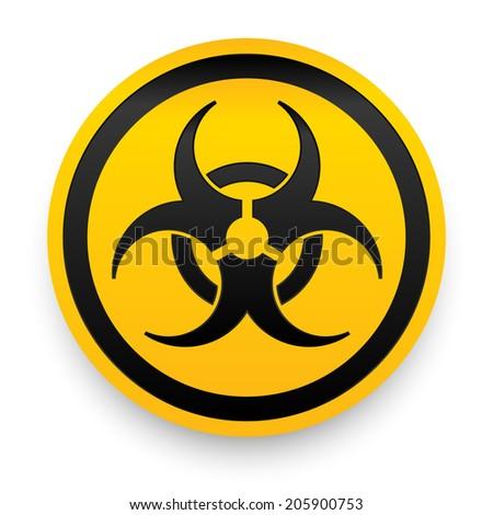 Biohazard sign. Vector illustration. - stock vector
