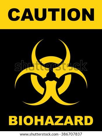 Biohazard symbol sign of biological threat alert . Vector illustration - stock vector