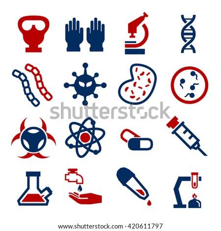 biohazard, toxic icon set - stock vector