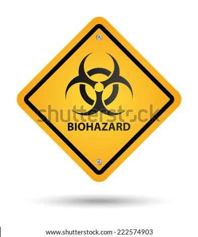 biohazard yellow sign, danger zone - stock vector