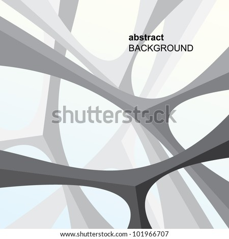 Bionic architectural elements on blue background - stock vector