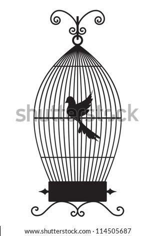 Bird cage - stock vector