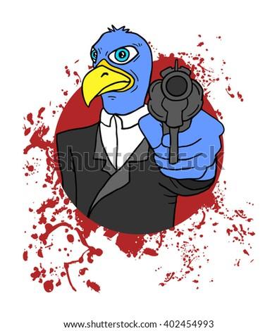 bird criminal - stock vector