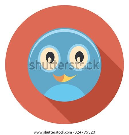 bird flat icon in circle - stock vector
