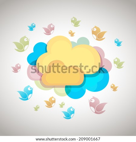 Bird Flock - stock vector