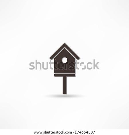 bird-house icon - stock vector