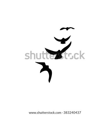 Bird Icon and vector. - stock vector