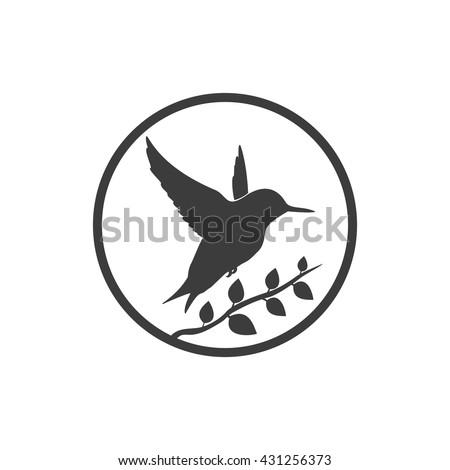 Bird icon. Bird Vector isolated on white background. Flat vector illustration in black. EPS 10 - stock vector