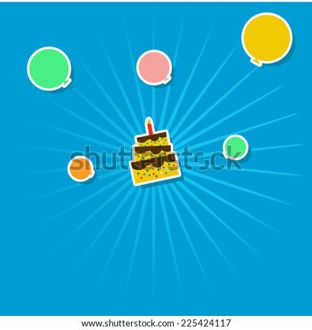 Birthday Background - stock vector