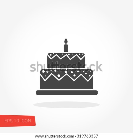 Birthday Cake Vector / Birthday Cake Vector Graphic / Birthday Cake Vector Art / Birthday Cake Vector JPG / Birthday Cake Vector JPEG / Birthday Cake Vector EPS / Birthday Cake Vector AI - stock vector