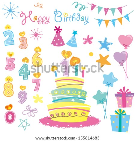 Birthday Candles/ Party - stock vector
