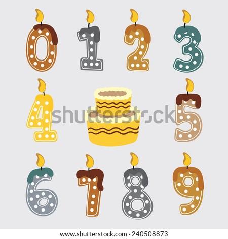 birthday candles vector - stock vector