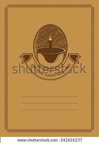 Birthday card/ Birthday greeting or invitation/ Book cover design (Joyeux anniversaire means happy birthday in English) - stock vector