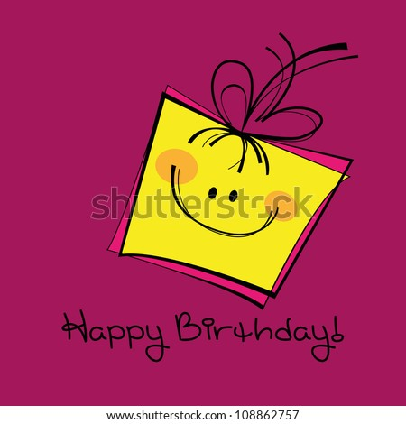 Birthday card, gift card, funny gift - stock vector