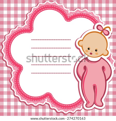 Birthday card Nice Greeting card - template Cute simple Artistic hand drawn illustration - doodle For baby shower, greetings, invitation, mother's day, birthday. - stock vector