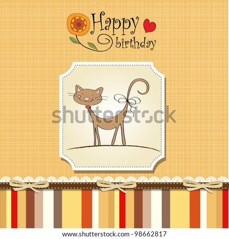 Stock Images similar to ID 97514729 cat animation – Free Vector Birthday Cards