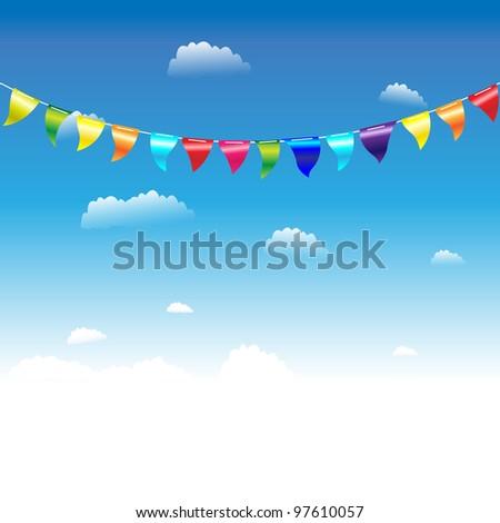 Birthday Flags, Vector Illustration - stock vector