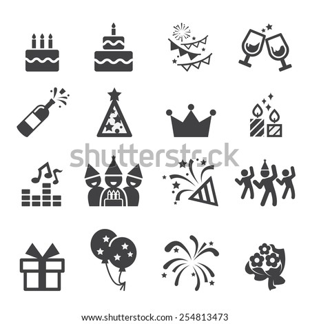 birthday icon - stock vector