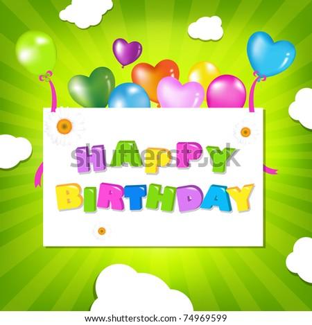 Birthday Illustration Design, Vector Illustration - stock vector